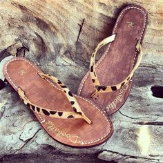 Leopard Print Flip Flops from Southern Fried Chics