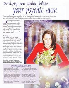 Divine Spark: BOS Developing Your Psychic Abilities: Your Psychic Aura page.