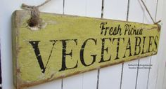 FRESH PICKED VEGETABLES Handpainted Sign on by TheFunkiLittleFrog, $25.00 #thefunkilittlefrog #farmsign #reclaimedwood
