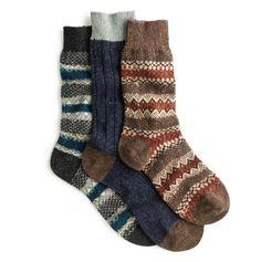 Hand knit socks, Scott-Nichol. JCrew