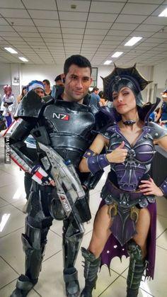 Commander Shepard and Evil-Lyn
