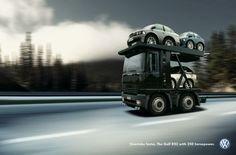 Volkswagen: Car transporter | Ads of the World™