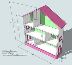 I've been looking for plans for a dollhouse that will fit barbies for quite a while and came across this blog.