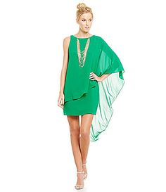 Belle Badgley Mischka One Shoulder Sabrina Dress #Dillards