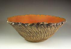 Large Ceramic Art Bowl Handmade Pottery by PatParkerCeramicArt