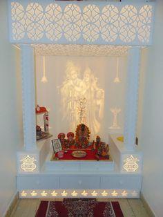 Mandir Design s Temple Room, Home Temple, Altar, Temple Design For Home, Mandir Design, Pooja Room Door Design, Puja Room, Home Ceiling, Room Interior