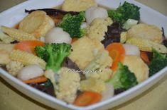 Diah Didi's Kitchen: Sapo Tahu Udang Tempeh, Tofu, Diah Didi Kitchen, Salad, Meat, Chicken, Vegetables, Recipes, Chinese