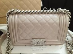 quilted boy in metallic light pink