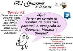 Esta semana nuestro #sorteorápido es en #Twitter. https://twitter.com/Gourmet_patata