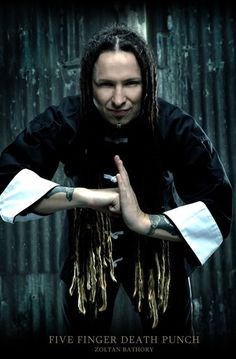 Zoltan Bathory, Five Finger Punch. Sorry the hair is the best part on this one absolutely love it and a great guitar player to the glue to the band for sure ✌️