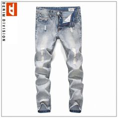 Ankor East Vim Mens Ripped Patch Faded WASH Jean