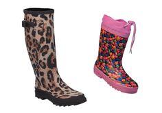 Bequem, wasserdicht und mit besonders charakteristischen Farben werden Sie die beiden Stiefel lieben. Damit nicht nur Mama's Füße sondern auch die Ihrer Kleinen trocken bleiben. Trendig raus ins Nass, bringen Sie Farbe in den grauen Alltag. Diese tollen Modelle erwarten uns Frühjar/Sommer 2013. ConWay, Damen Gummistiefel – Elke – braun; & ConWay, Kinder Gummistiefel – Smartie – pink;