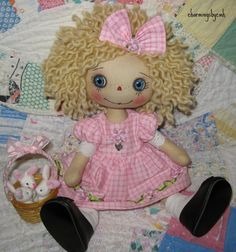 Annie is free standing and only 12 inches tall   SOLD     her arms and legs are button jointed   so she is able to sit or stand on her ow...