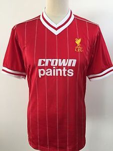 1274685ed LIVERPOOL Football Shirt SCORE DRAW Retro CROWN PAINTS Home Size L Large