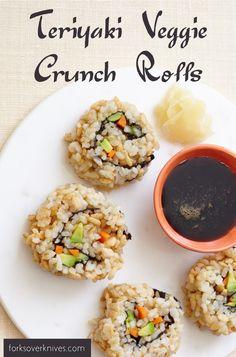 teriyaki veggie crunch roll teriyaki veggie crunch roll plant based ...