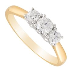 Lovingly made from luxurious yellow gold, this rings showcases three dazzling diamonds in the trilogy style - crafted with The Fields Setting. Tulips, Fields, Gold Rings, Engagement Rings, Yellow, Luxury, Diamond, Jewelry, Style