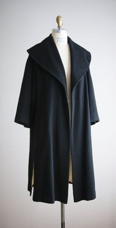 1950s INTO THE NIGHT wool and silk coat