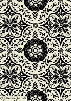 Surface Pattern Design and Illustration by Go Benny Go.: The Beginnings of a Collection: Grace, Intricate