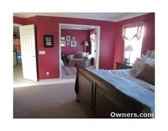 Master bedroom with sitting room/office/nursery right off of it. Love it!
