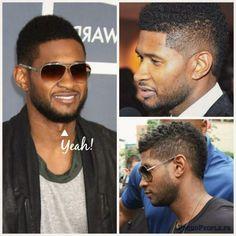 Photo de Usher portant la Frohawk, une idée de coupe pour les hommes afro