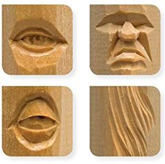 Carving Faces Workbook: Learn to Carve Facial Expressions with the Legendary Harold Enlow (Fox Chapel Publishing) Detailed Lips, Eyes, Noses, and Hair to Add Expressive Life to Your Woodcarvings Wood Carving Faces, Wood Carving Designs, Wood Carving Patterns, Wood Carving Art, Popeye And Olive, Elf Face, Tree Faces, Chip Carving, Jesus Art