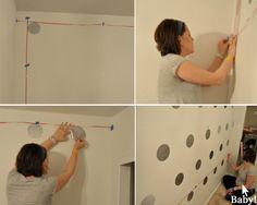 Polka Dot Nursery Wall.