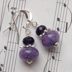 Blackberry Lampwork Earrings £15.00