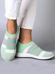 women shoes ONLY FOR YOU 331267 - NEWCHIC Mobile Slip On Sneakers, Casual Sneakers, Slip On Shoes, Casual Shoes, Sneakers Women, Flat Shoes, Shoes Women, Loafers Women, Baskets Plates
