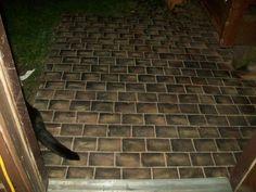 Painting Bricks On Sidewalk | Faux Painted Walkway | Gardening Tips |  Pinterest | Walkways, Yards And Bricks