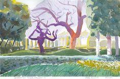 Watercolour Paintings, Watercolor Landscape, Canadian Artists, Valencia, Moose Art, The Originals, Garden, Modern, Animals