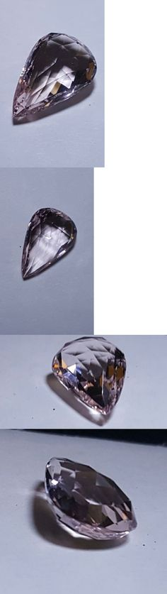 Morganite 110802: 4.55 Ct Natural Pear-Cut Briolette Superior Quality Vvs/If Morganite Minas Giras -> BUY IT NOW ONLY: $150.0 on eBay!