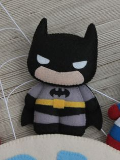 Felt Crafts Diy, Crafts To Make, Crafts For Kids, Arts And Crafts, Felt Banner, Softie Pattern, Felt Mobile, Batman Party, Christmas Cartoons