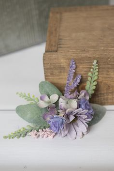 Lavender Daisys & lilac peony flowers. Accented with baby breath & greenery. This Whimsical Flower Hair Clip is the perfect accessory for a wedding or special photo session! ** Bridesmaids and flower girls will brighten up the room with this sweet hair accessory. ***The blooms