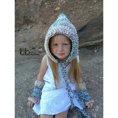 Pixie Hat and Fingerless Gloves PATTERN ONLY by BeccasBeanies