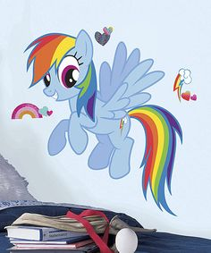 Another great find on #zulily! Rainbow Dash Giant Wall Decals by My Little Pony #zulilyfinds