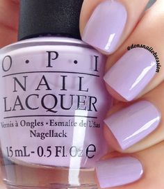 "opi Polly Want A Lacquer?"" a lilac purple nail shade from the OPI Fiji collection"