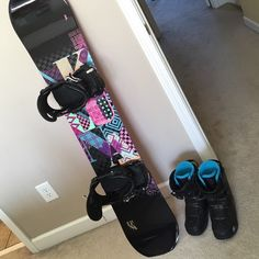 Snowboard, bindings and boots! K2 Luna 142 women's snowboard, With black k2 bindings, also has purple flower gripper already attached. Black and blue K2 Boa boots size 7.5. Boots worn only a couple of times and the board was only used twice. Email me for more pictures or details. A n d i c o l e h a r d t @ y a h o o . C o m K2  Other