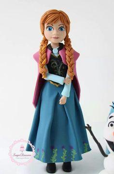 Anna Topper Geek Birthday, Superhero Birthday Cake, Frozen Birthday Cake, Frozen Party, Birthday Cakes, Anna Frozen Cake, Disney Frozen Cake, Olaf Frozen, Anna Cake