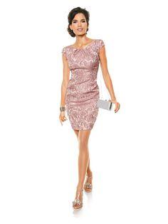 robe ajuste en jacquard rouge avec motif floral httpwwwhelline - Tara Jarmon Mariage