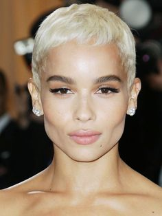 Blonde Womens Braided Hairstyles In 2020 9 Zoe Kravitz Hairstyles Long Braided Pixie Haircut Short Pixie, Short Hair Cuts, Short Hair Styles, Pixie Cuts, Asymmetrical Pixie, Blonde Hair Girl, Platinum Blonde Hair, Platinum Pixie, Hair Inspo