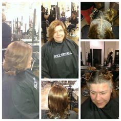 Color cut curl