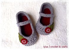 Adorable crocheted baby shoes.