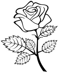 Rose Coloring Pages, Coloring Pages To Print, Mandala Coloring, Printable Coloring Pages, Adult Coloring Pages, Coloring Sheets, Coloring Pages For Kids, Coloring Books, Kids Coloring