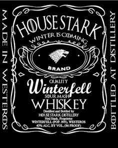 Limited Time! An ode to Westeros's favorite family and one of America's favorite brands. Stark brand whiskey will be to everyone's delight. This is a classic tee that has a light feel. Made of 100% ri