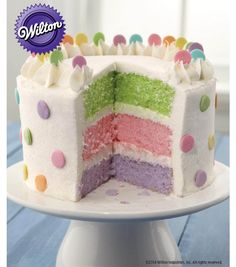 Dots Pastel Colors Layer Cake from @joannstores