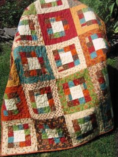This quilt pattern works with just about any type of fabric. The thing I love about this quilt is you just need one jelly roll and some neutral fabric,
