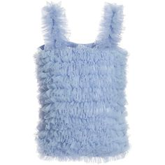 ANGEL'S FACE Sky Blue Tulle Net Frilled Top