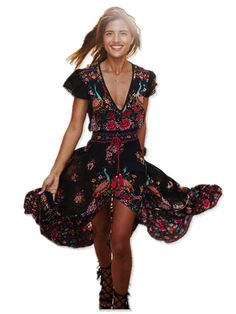 2017 Summer Boho Dress Ethnic Sexy Print Retro Vintage Dress Tassel Beach Dress Bohemian Hippie Dress Robe vintage Vestidos - 1, M