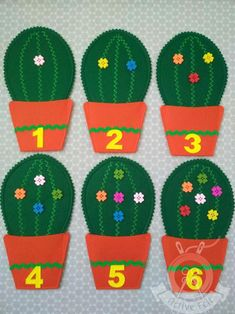 Learning Numbers Counting Game, Toddler Early Learning Activity, Counting Cactuses Matching Game, To Number Games For Toddlers, Learning Numbers Preschool, Kindergarten Games, Educational Games For Kids, Preschool Learning Activities, Learning Toys, Number Activities, Learning Letters, Counting For Kids