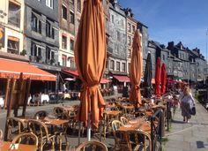 Café Honfleur france Normandie normandy harbour